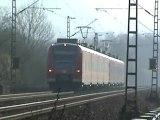 BR189 mit gemischtem Güterzug kurz vor Bf Bonn Oberkassel und BR425 kurz vor Bf Bonn Beuel