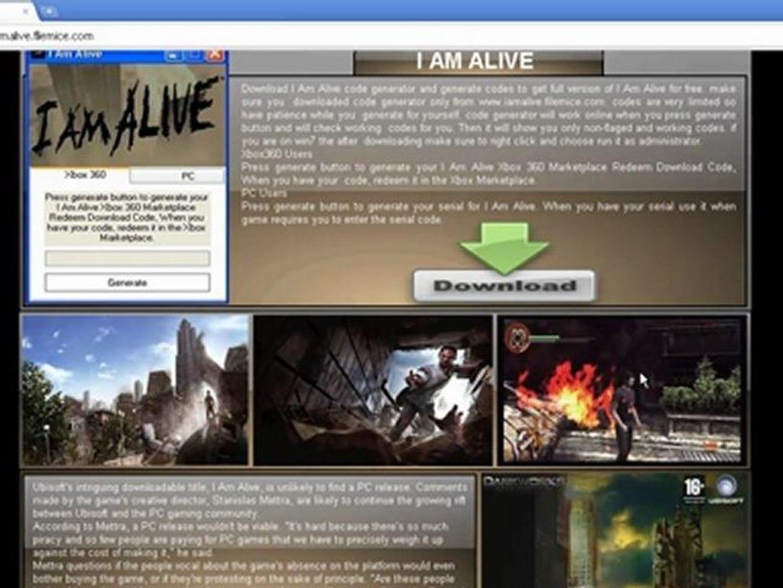 i am alive activation key generator