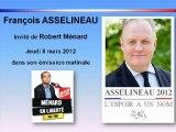 François ASSELINEAU chez Robert Ménard - Sud Radio - 8 mars 2012