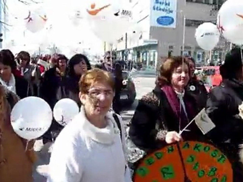 Mulheres pedem igualdade na Bósnia