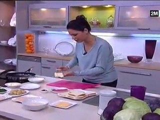 Choumicha - Sandwich à la Charcuterie, pomme de terre et fromage