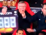 Substitute Board Dropped On Alex Ferguson foot Manchester United