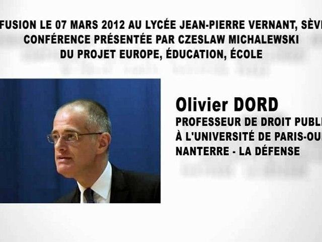La constitution de la République Française (2e partie), Olivier DORD