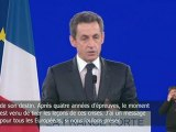 Discours de Nicolas Sarkozy à Villepinte