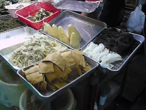 sur le marché des algues?