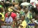 Les obsèques des victimes des explosions du régiment blindé à Mpila