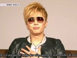 [Danish Subs] GACKT - Message for 11th March at J-Melo (2012.03.12)