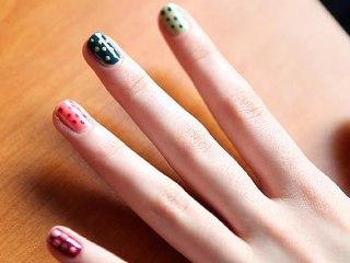 Nail Art - La manucure à pois