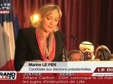 Présidentielles : FN, Marine Le Pen obtient ses 500 parrainages !