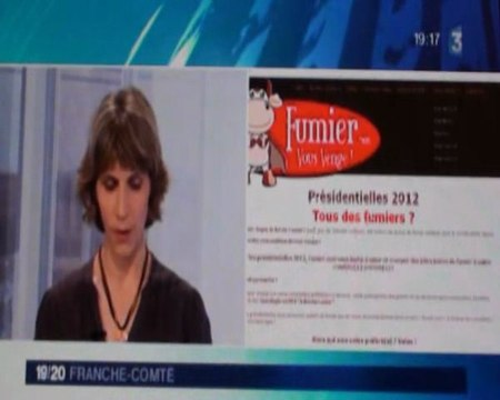 """Fr 3 Franche-Comté présente le site """"fumier.com"""""""