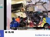 Zapping Actu du 15 Mars 2012 - Les Guignols de l'info et le prix de l'essence, Accident dramatique en Suisse