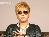 [Finnish Subs] GACKT - Message for 11th March at J-Melo (2012.03.12)