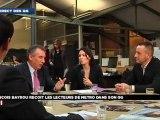 François Bayrou, en direct du QG de campagne avec les lecteurs de Metro sur LCI - 120312
