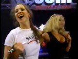 stephanie mcmahon leaving the ring._(360p)