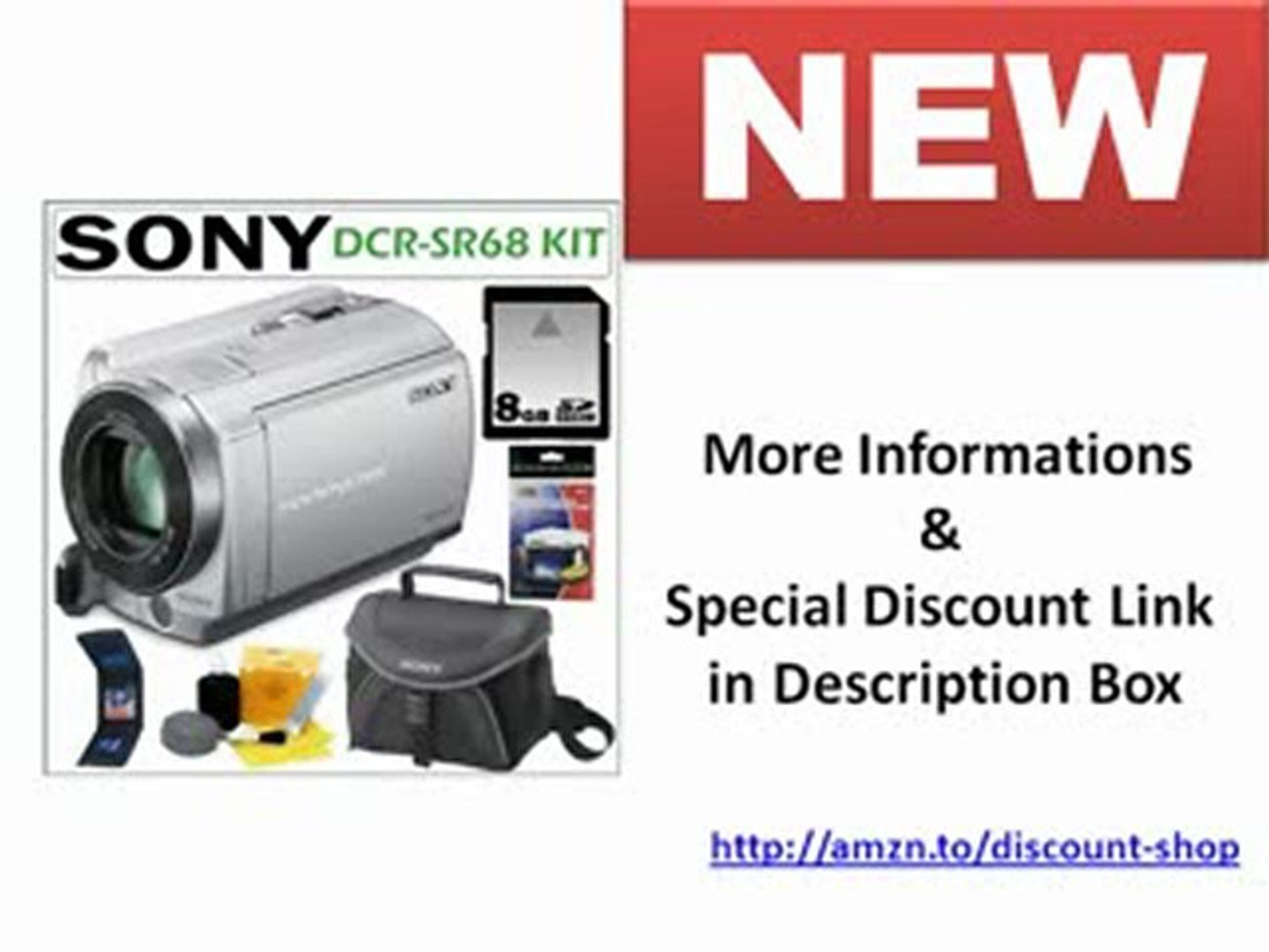 Sony DCR-SR68 80GB Hard Disk Drive Handycam Camcorder (Silver) Unboxing | Sony DCR-SR68 80GB Hard Di