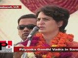 Priyanka Gandhi Vadra in Sareni Wrong polices of non-Congress parties dragged UP backwards