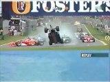 Formule 1 Australie 2002 Huge crash en francais (kiosque)