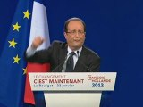 François Hollande au Bourget (2/2)