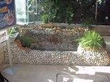 doğal taş şelale havuz