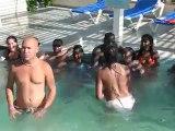 Voyage salsa juillet 2012 avec  Dansacuba  sortie a la plage avec tous les cubains pendant le carnaval de Santiago