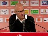 Conférence de presse Stade Brestois 29 - Valenciennes FC : Landry CHAUVIN (SB29) - Daniel  SANCHEZ (VAFC) - saison 2012/2013