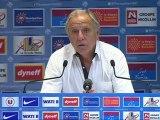 Conférence de presse Montpellier Hérault SC - AS Saint-Etienne : René GIRARD (MHSC) - Christophe  GALTIER (ASSE) - saison 2012/2013
