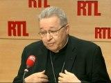 """Monseigneur André Vingt-Trois, archevêque de Paris et président de la Conférence des évêques de France : """"Un débat plus large s'imposait sur le mariage des couples homosexuels"""""""
