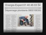 Plombier Paris 01 40 46 03 54 - Depannage plomberie Paris - Plombier chauffagiste Paris