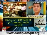 GEO Aaj Kamran Khan Kay Sath: MQM gives PPP three days to fulfill 'valid' demands: Faisal Sabzwari