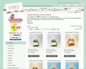 www.confiserielopez.com - Etapes pour passer une commande.