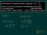 Unit Dimension Error Physics Lectures, CBSE PMT 2006 Solution, Online IIT Study Material, Crack NEET