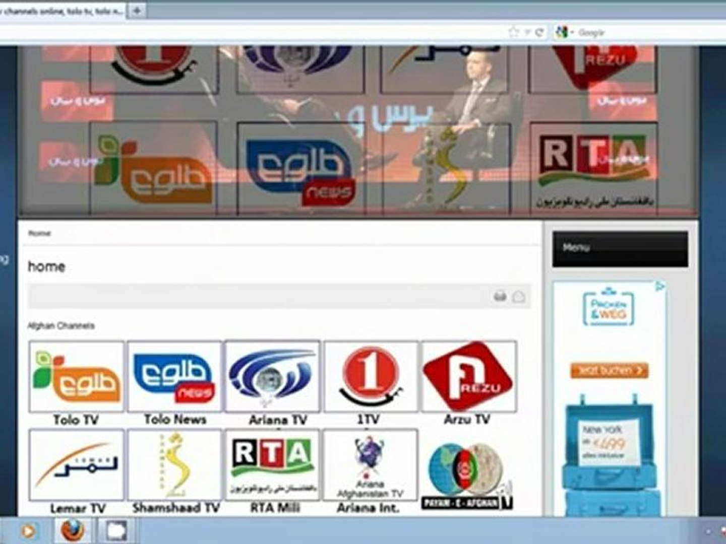 Watch afghan TV Channels Live - Tolo tv, Tolo news, ariana tv