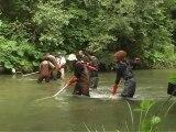 Travaux d'aménagements piscicoles et pêche électrique d'inventaire sur le Guiers Mort