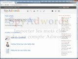 SpyAdwords - Importer les mots clés depuis votre compte Adwords