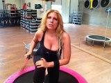 Monya fitness e Giwa varie posizioni di lavoro con tappeto elastico e Flexi Bar Butterfly