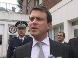 Le ministre de l'Intérieur, Manuel Valls au commissariat d'Amiens (29/09/2012)