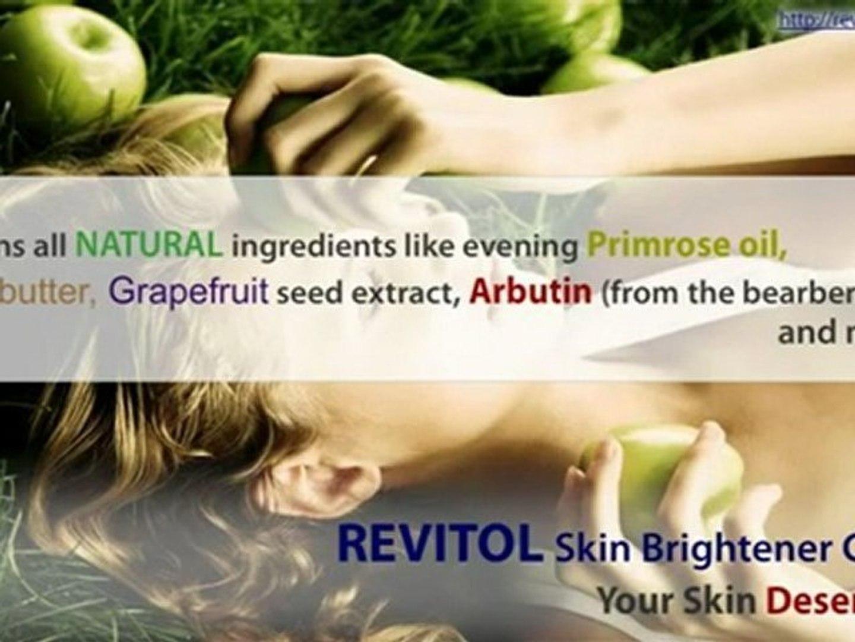 Revitol Skin Brightener Cream Your Skin Deserves It Video