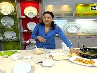 Choumicha - Mousse de poulet en Club Sandwich ou en Verrine