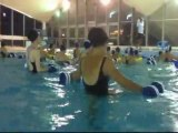 Cours d'aquagym à la piscine olympique de Deauville