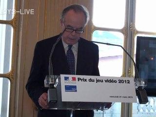 Remise du Prix du Jeu Vidéo 2012 - Vidéo 1 de