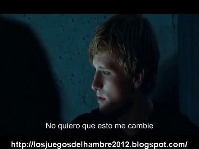 Los juegos del hambre Peeta y Katniss en la azotea subtitulos español