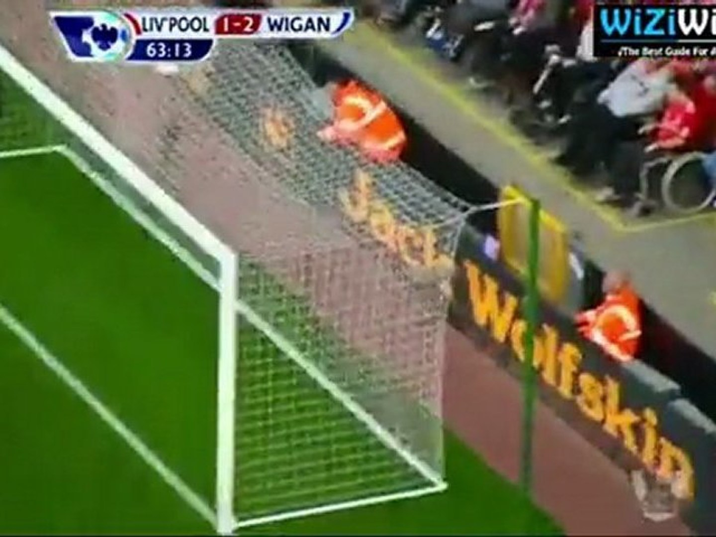Gary Caldwell CRAZY goal against Liverpool 1-2!