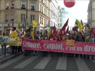 Manifestation nationale pour l'emploi 24 mars 2012 à Paris : vues de la manifestation