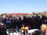 Manifestation motards rocade Bordeaux 24 mars 2012