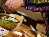 Azteca Food's Chef Gustavo Presents Salad Shell Caesar Salad