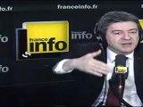 Jean-Luc Mélenchon, candidat du Parti de gauche