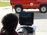 Saint-Marcellin Journée prévention routière : apprentissage de la conduite d'un deux-roues sur simulateur