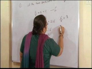 (Xth Standard)Algebra chapter 1 :Arithmetic progression and geometric progression exercise 1.9 (1)