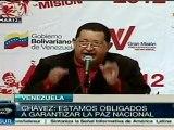 Chávez denunció planes de agresión a Venezuela