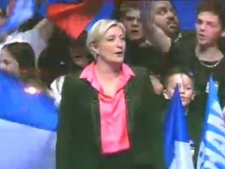 La Marseillaise à Nice avec Marine Le Pen 2012